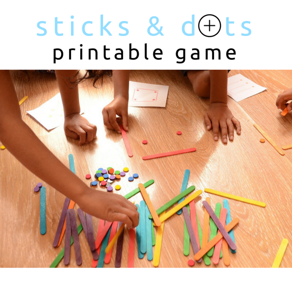 Practical Mom: Sticks & Dots Printable Game, Keep Kids Busy!