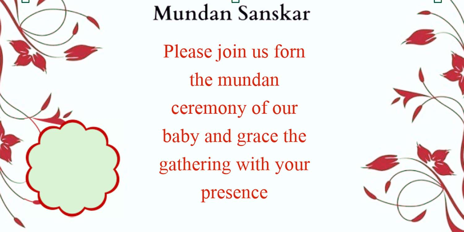 mundan ceremony invitation matter in hindi