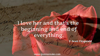 Love Quote by F. Scott Fitzgerald