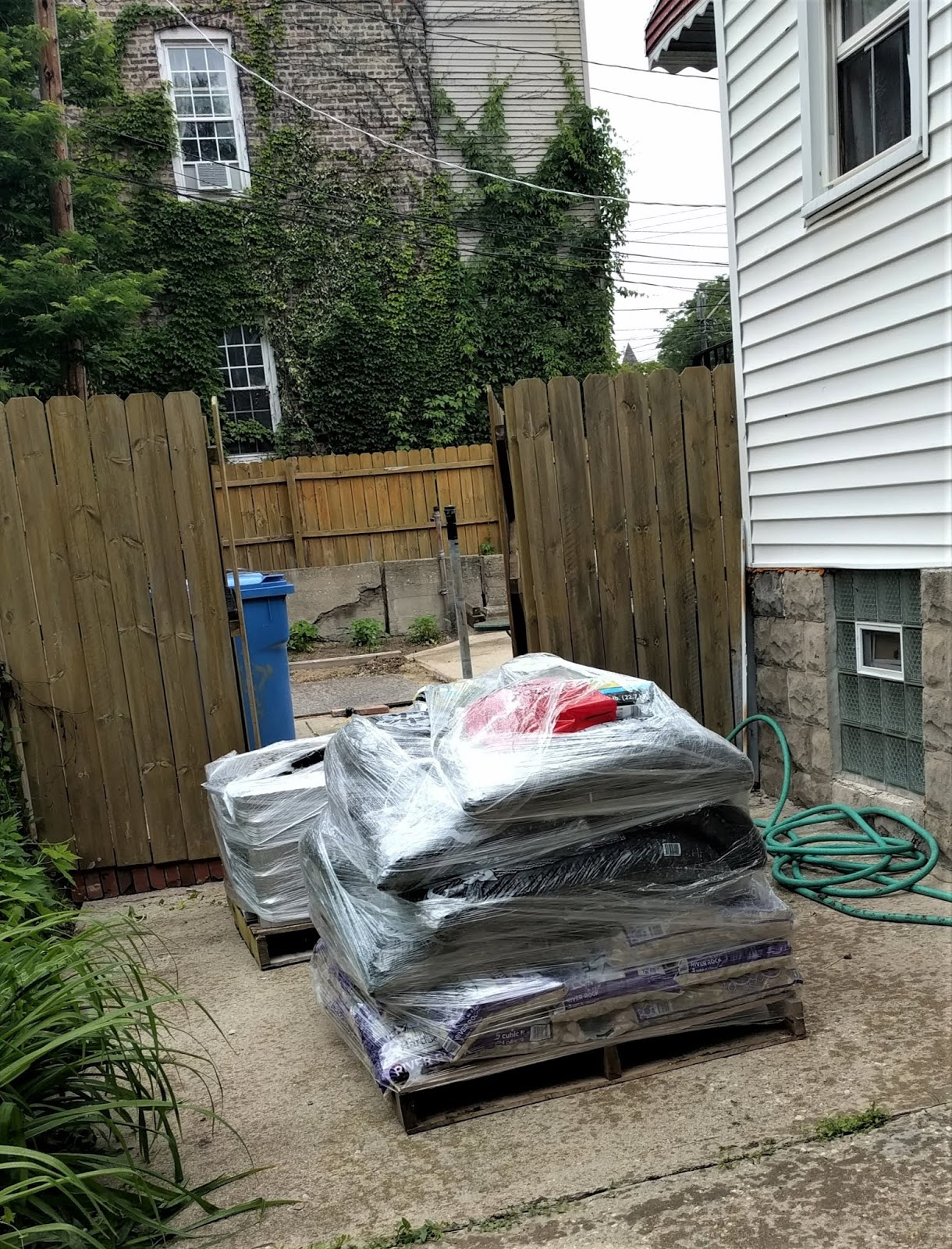 Last Week We Got A Big Delivery With Patio Pavers,