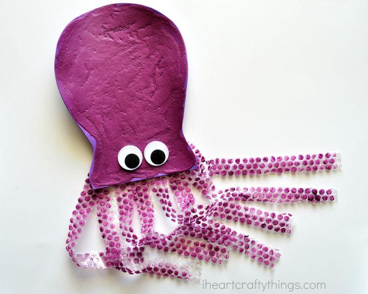 Puffy Paint Octopus Kid Craft