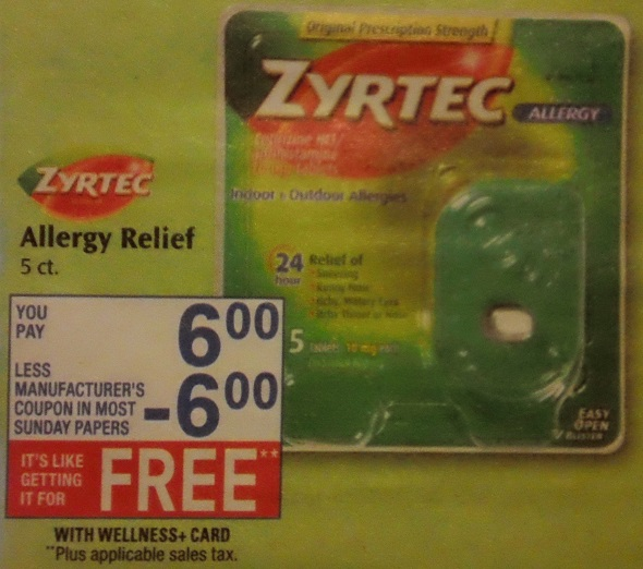 Extreme Couponing Mommy Free Zyrtec Allergy Relief At