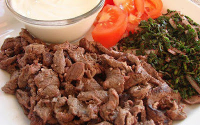 شاورما اللحم المشوية