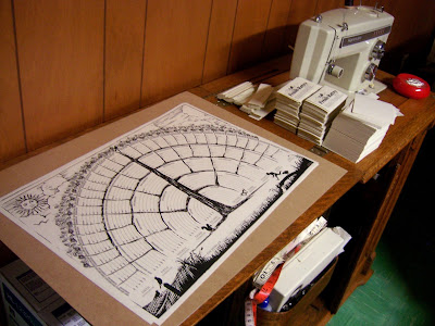 family tree chart on sewing machine