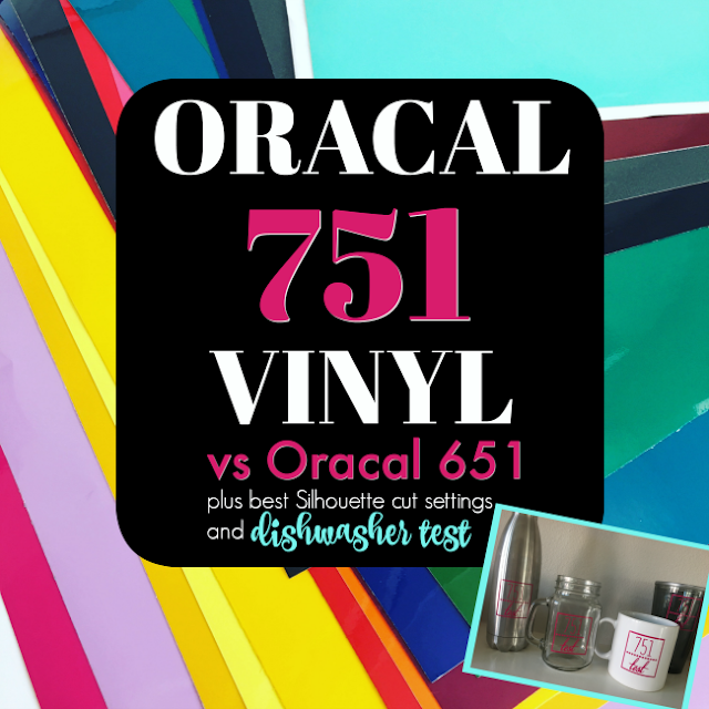 Silhouette Cut Settings, Silhouette Cameo Cut Settings, Silhouette Vinyl Cut Settings, oracal 751 vinyl , oracal cast vinyl