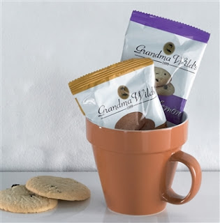 Plant Pot Mug With Biscuits