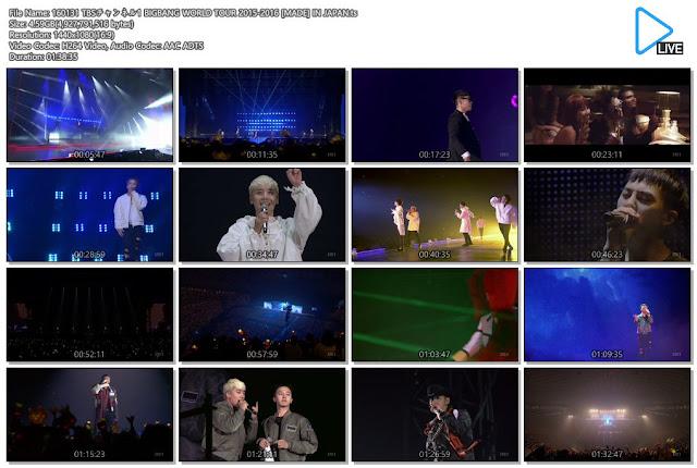 [Show] 160131 TBSチャンネル1 BIGBANG WORLD TOUR 2015-2016 [MADE] IN JAPAN