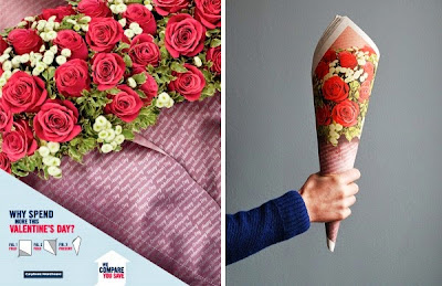 Anuncio muy creativos del día de San Valentin o día del amor y la amistd