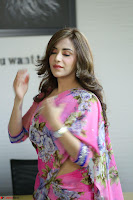 Actress Angela Krislinzki in Pink Saree Blouse Exclusive Pics March 2017 ~  115.JPG