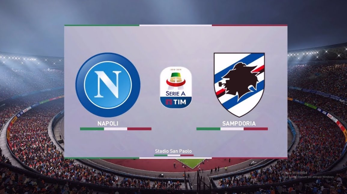 NAPOLI SAMPDORIA Streaming: dove vederla in Diretta Video Online, Sky o DAZN?