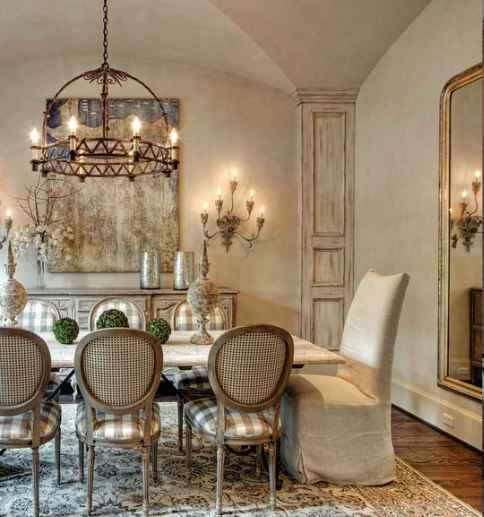 French Style Dining Room: TG Interiors: Patina Design