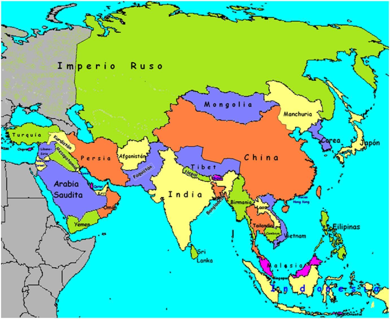 Mapa De Países: PZ C: Mapa De Asia
