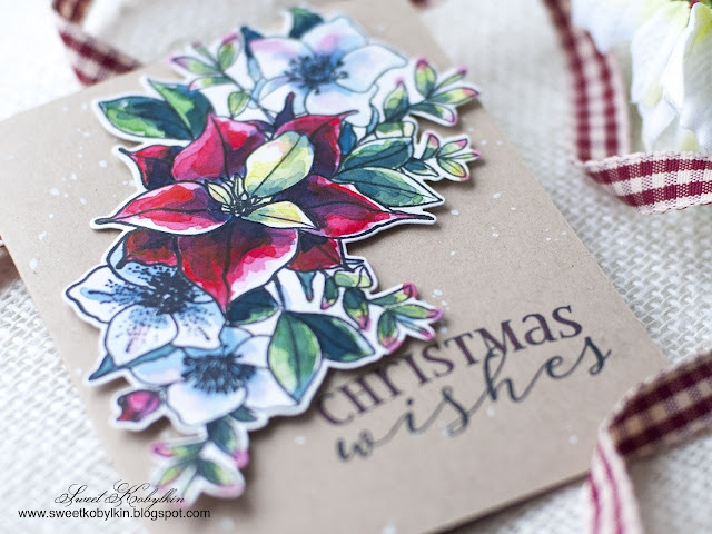 Christmas Rose Bouquet WPlus9 Design - Sweet Kobylkin
