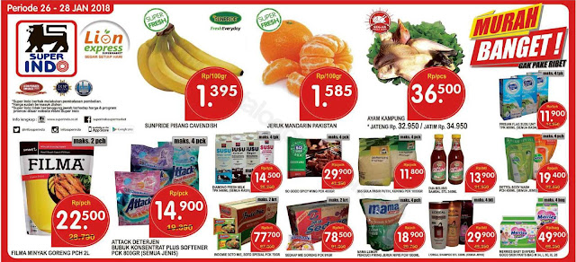 Promo SUPERINDO Katalog Weekend Periode 26 - 28 Januari 2018