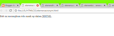 elemen <acronym>