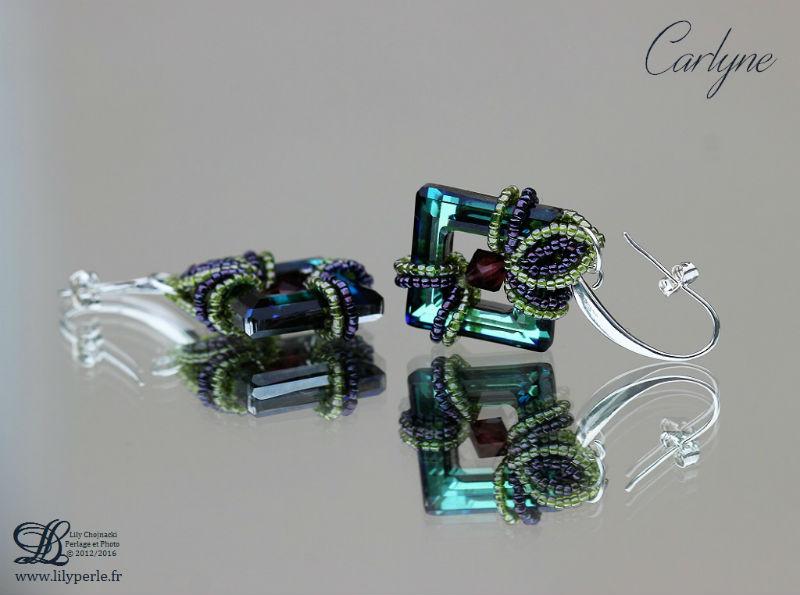 Boucles d'oreilles,Bracelet et Pendentif Carlyne par Lilyperle