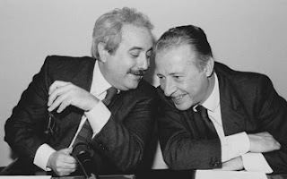 Photo of Giovanni Falcone with Paolo Borsellino