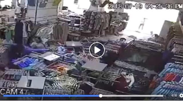 WOMAN RAMMED HER CAR IN AL AHSA'S DRESS SHOP