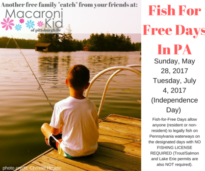 At home in pittsburgh for Free fishing day 2017 pa
