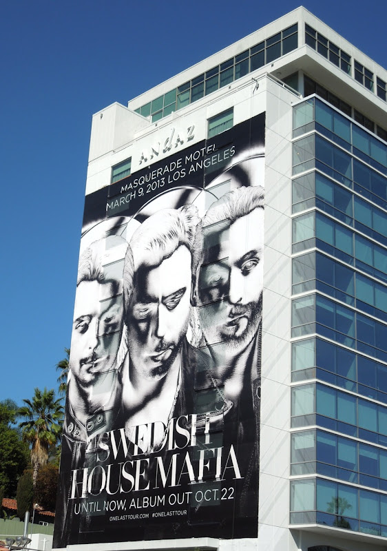 Giant Swedish House Mafia billboard