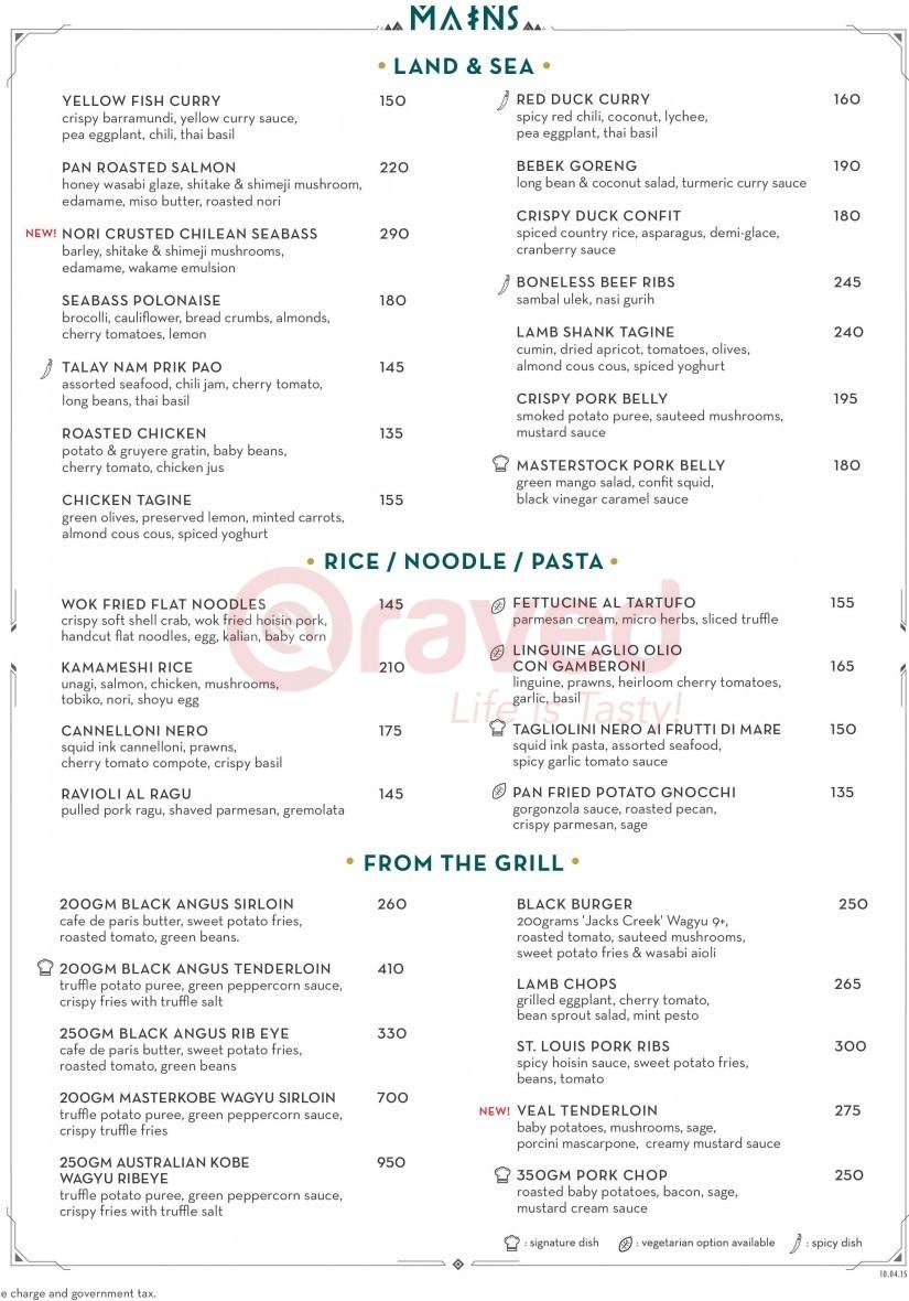 harga menu di bar restaurant terbaru tahun 2018