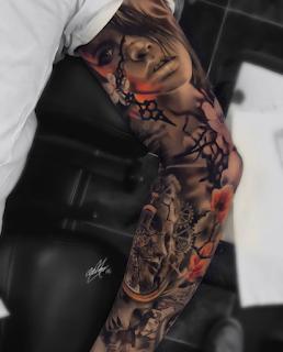 gambar tato lengan keren 3D