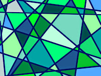 Muster Mosaik blaugrün