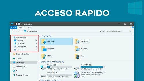 Eliminar Acceso Rápido en Windows 10