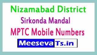Sirkonda Mandal MPTC Mobile Numbers List Nizamabad District in Telangana State