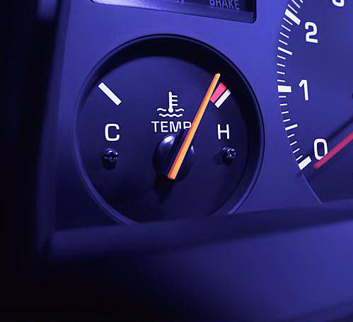 Close Up Of Car Temperature Gauge on Ford Ranger 3 0 Thermostat