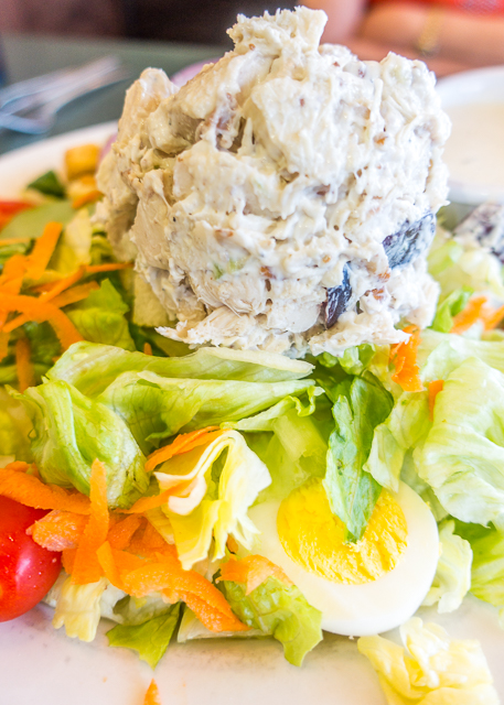 Chicken Salad Salad at Metro Diner -  Where to Eat in St. Augustine, Florida - we found several hidden gems in St. Augustine that you MUST try on your next trip. Pizza, Burgers, Sandwiches, Craft Cocktails, and CRAZY milkshakes! Something for everyone!!