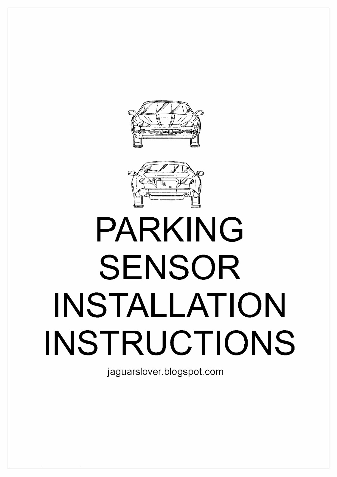 Jaguar Cars Jaguar Bumpers Fitting Parking Sensors