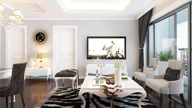 Thiết kế phòng khách căn hộ Sunshine Riverside.