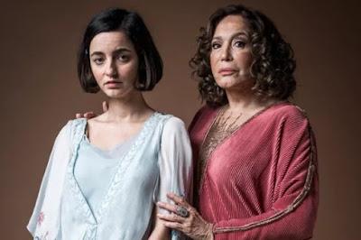 Tia Emília e Justina. Foto – Globo.
