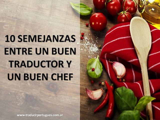 traducciones, gastronomía, características, buen traductor, buen chef