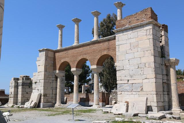 The remains of the burial site of St John near Ephesus in Kusadasi, Turkey