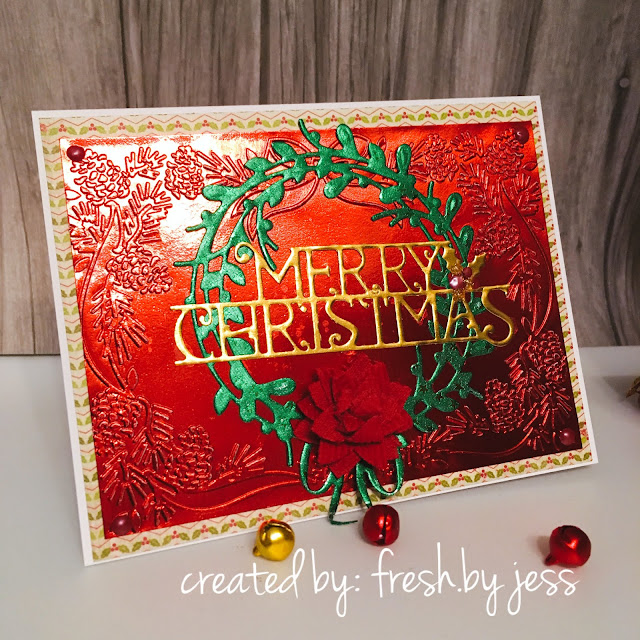 Christmas Card with Rinea Foiled Paper