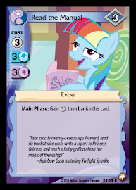 MLP Read the Manual Equestrian Odysseys CCG Card