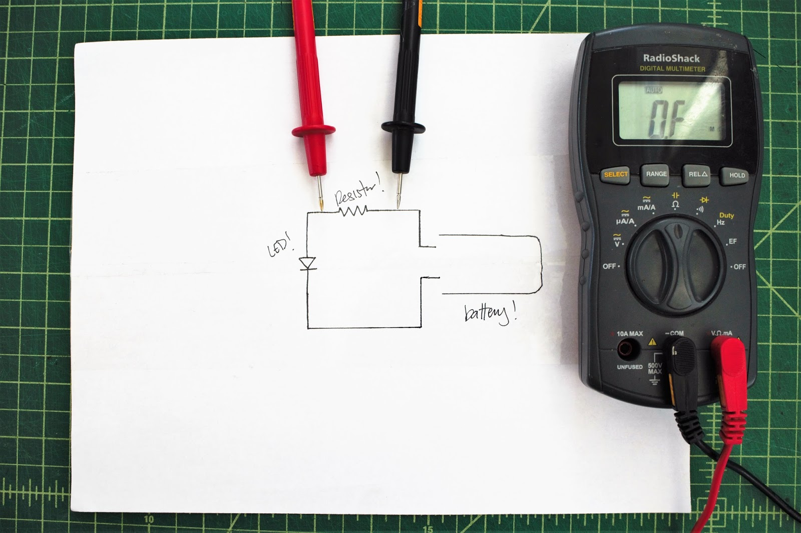 Maker Quest How To Use And Choose A Multimeter Measuring Resistance In Circuit Out Put The Black Probe Com Port Red Marked With Or Ohm It Should Be Same As Voltage