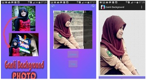 cara mengganti background foto lewat android