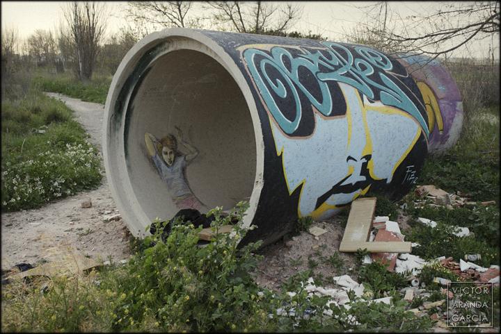 fotografía, Alboraia, Límites, serie, tubo, grafiti
