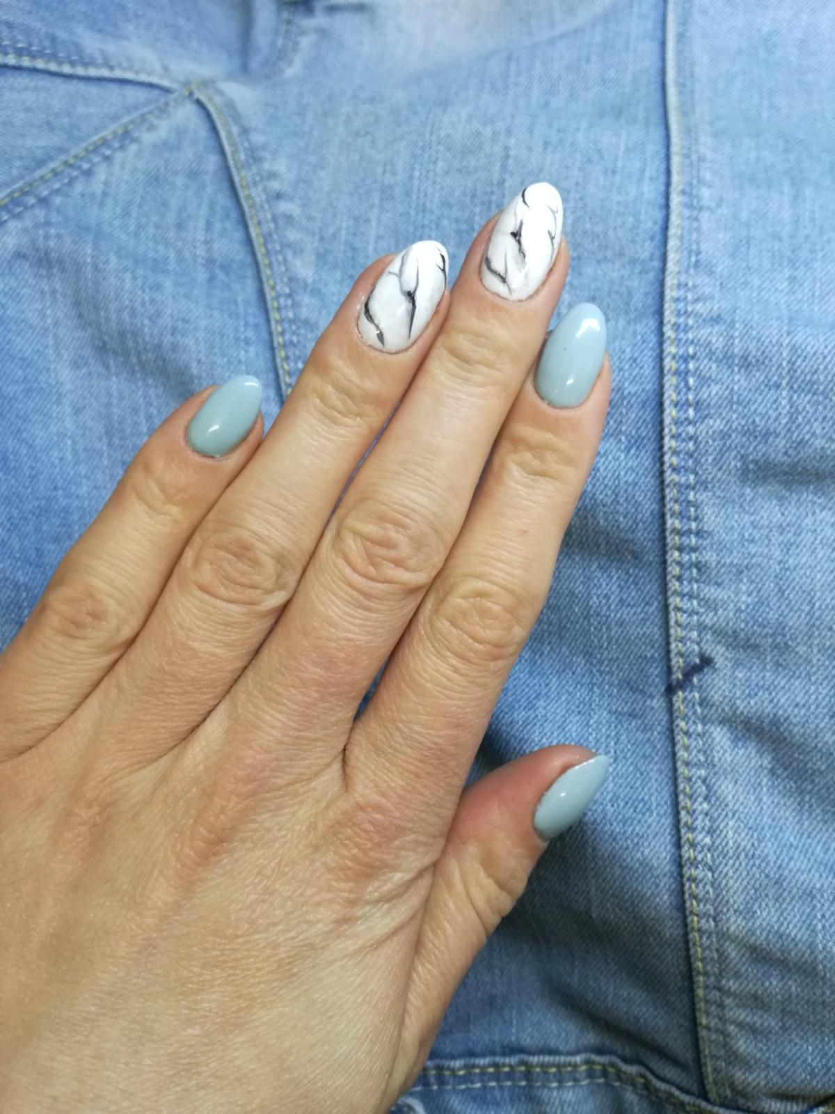 Marmurkowe paznokcie!