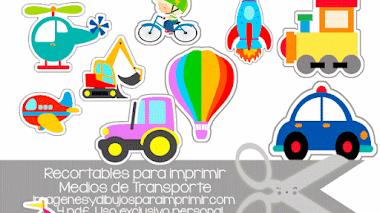 Recortables de medios de transportes para imprimir