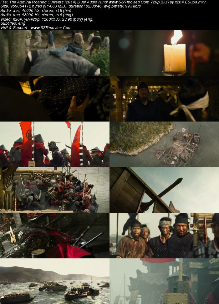 The Admiral Roaring Currents (2014) Dual Audio Hindi 480p BluRay 400MB Movie Download
