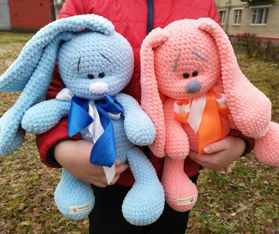 Plush bunnies amigurumi