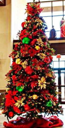árvore de natal tema tradicional