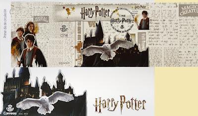 Sobre PDC dela hoja bloque dedicada a Harry Potter