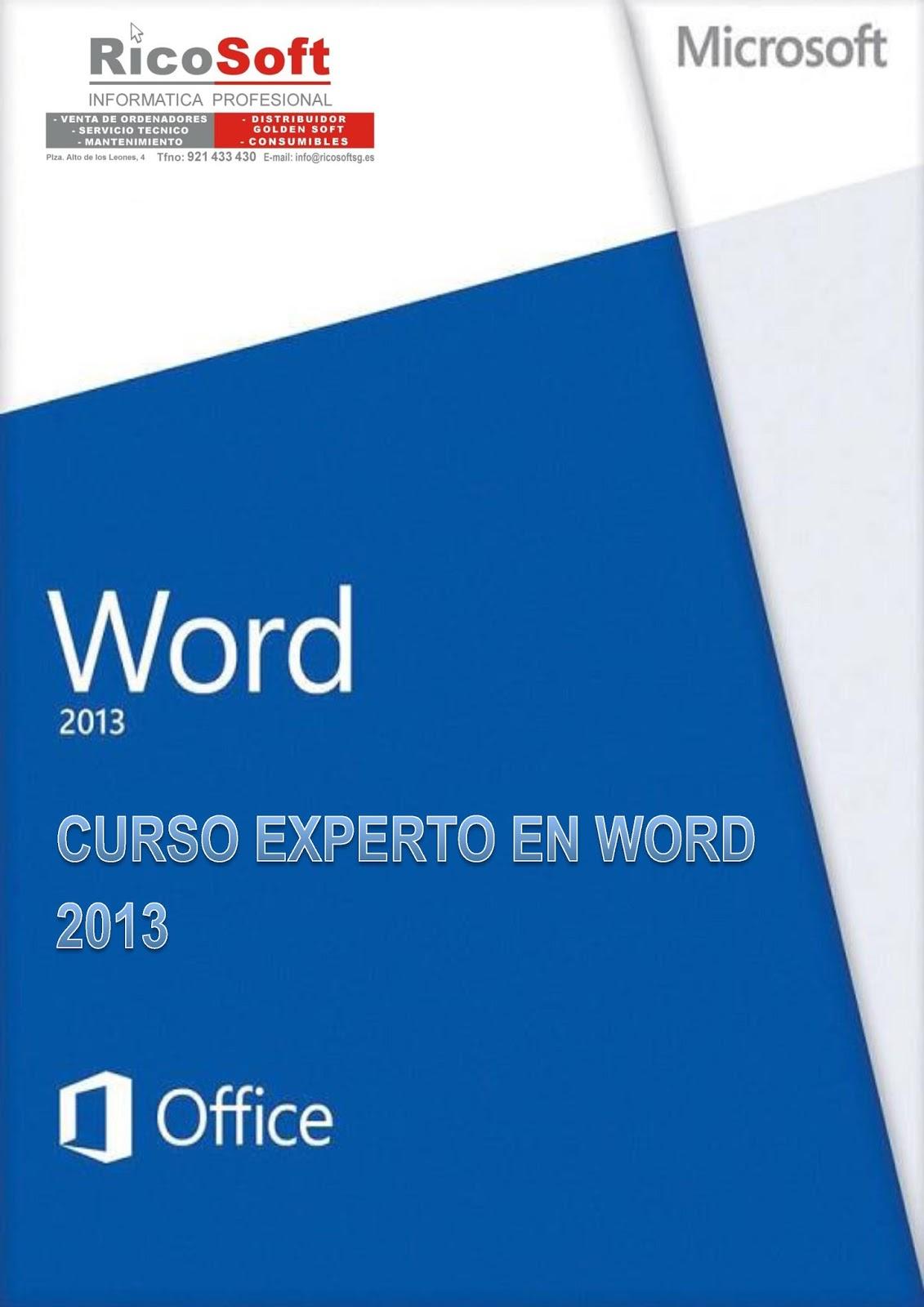Curso Experto en Microsoft Word 2013 – Aulaclic
