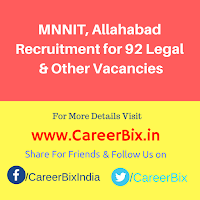 MNNIT, Allahabad Recruitment for 92 Legal, Horticulture, Security Asst, Secretary,Steno, MO, SMO Vacancies