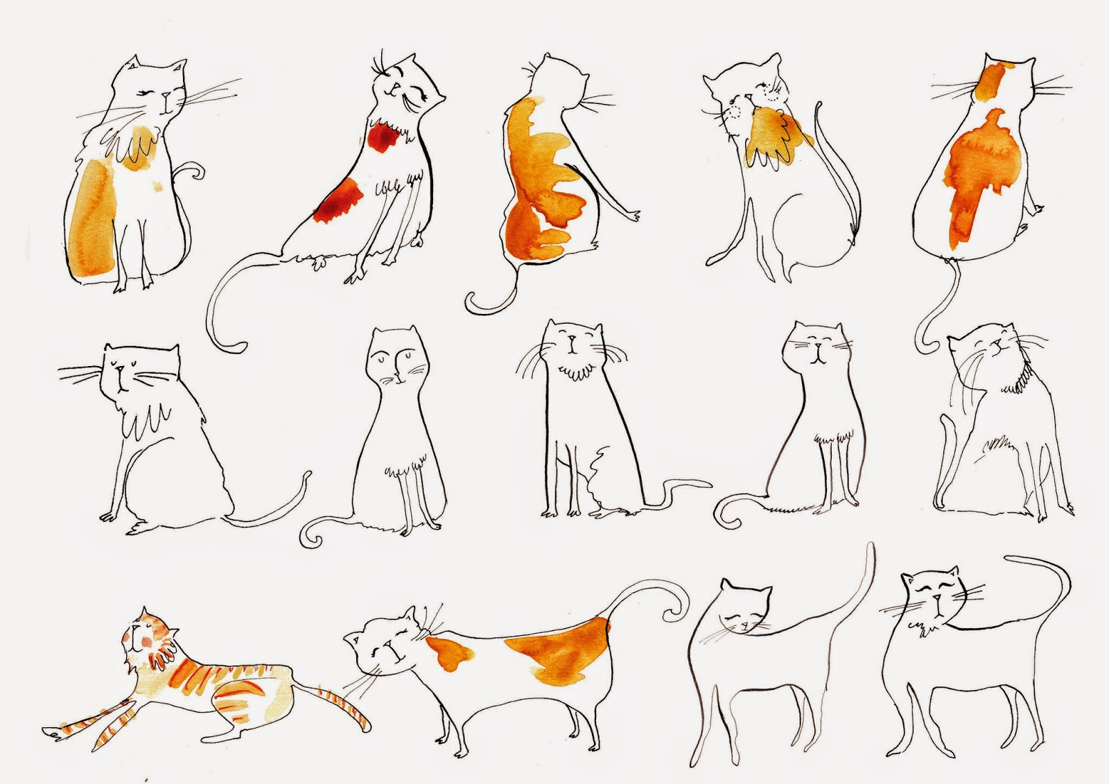 Ink Cats illustration